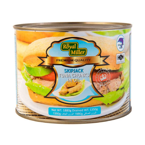 Tuna Chunk In Oil Royal Miller 1.88Kg Canned Meat/seafood