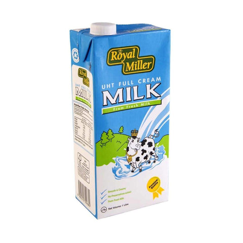 Uht Full Cream Milk Royal Miller 12X1Ltr & Powder