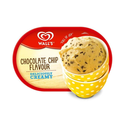 Walls Tub Chocolate Chip Ice Cream 4X1500Ml