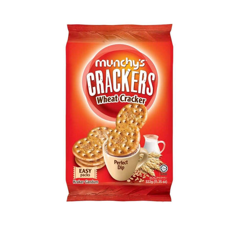 Wheat Crackers 322Gx12 Munchys Biscuits