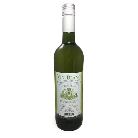 White Cooking Wine 10% Vol 750Ml Meneau Vinegar &