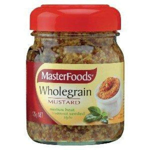 Whole Grain Mustard-Master Food 6X175Gm Mustard