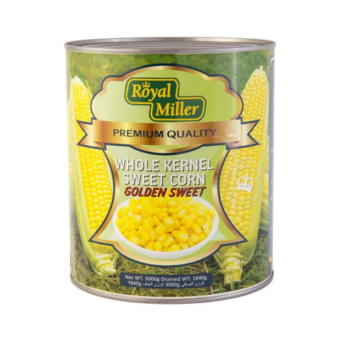 Whole Kernel Corn Royal Miller 3Kg Canned Vegetable