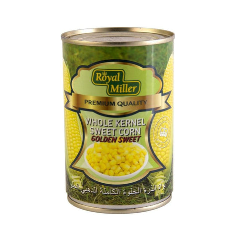 Whole Kernel Sweet Corn Royal Miller 425G Canned Vegetable