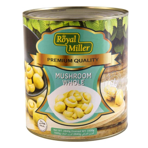 Whole Mushroom Royal Miller 2840G Canned