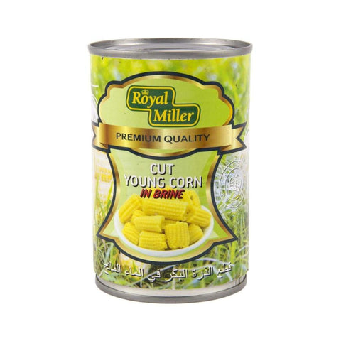 Young Corn Cut Royal Miller 425G Canned Vegetable