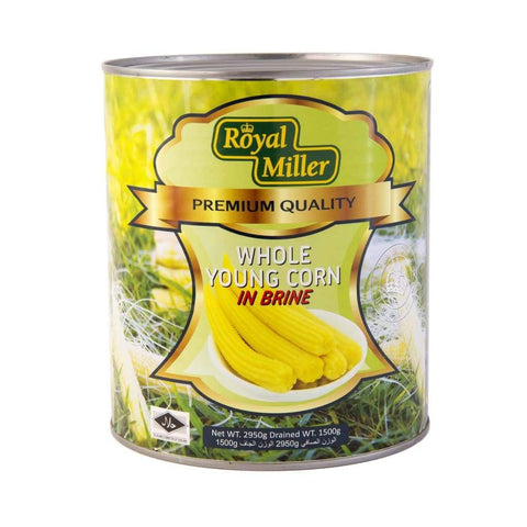 Young Sweet Corn Royal Miller 2.9Kg Canned Vegetable