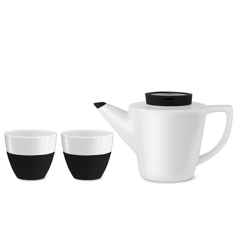 Infusion™ Porcelain Tea Set-VIVA Scandinavia | Color=black