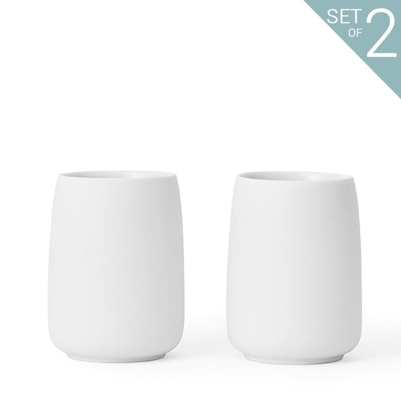 Nicola™ Tea Cup Large - Set Of 2-VIVA Scandinavia | Color=pure white
