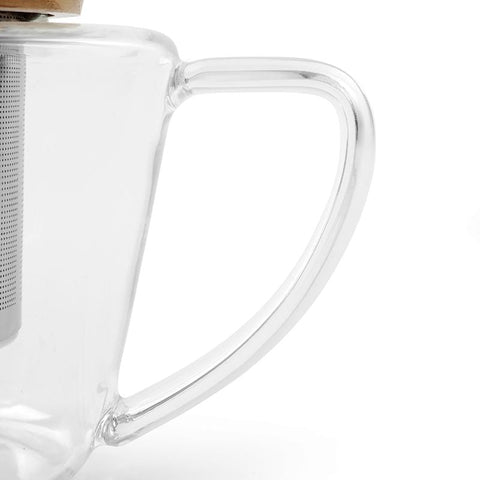 Infusion™ Glass Teapot With Oak Lid-VIVA Scandinavia