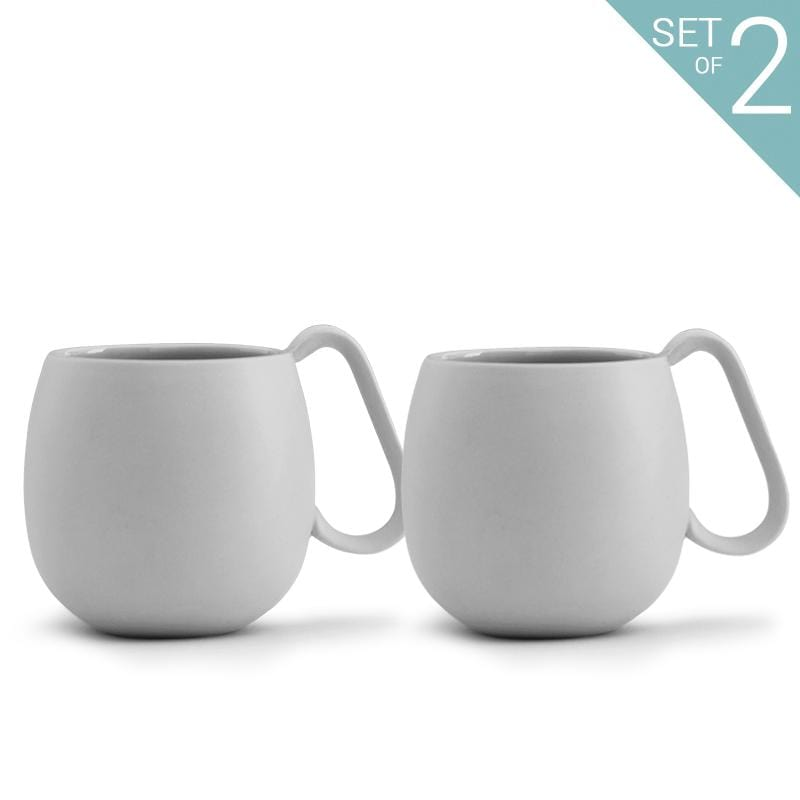 Nina™ Tea Mug - Set Of 2-VIVA Scandinavia | Color=light grey
