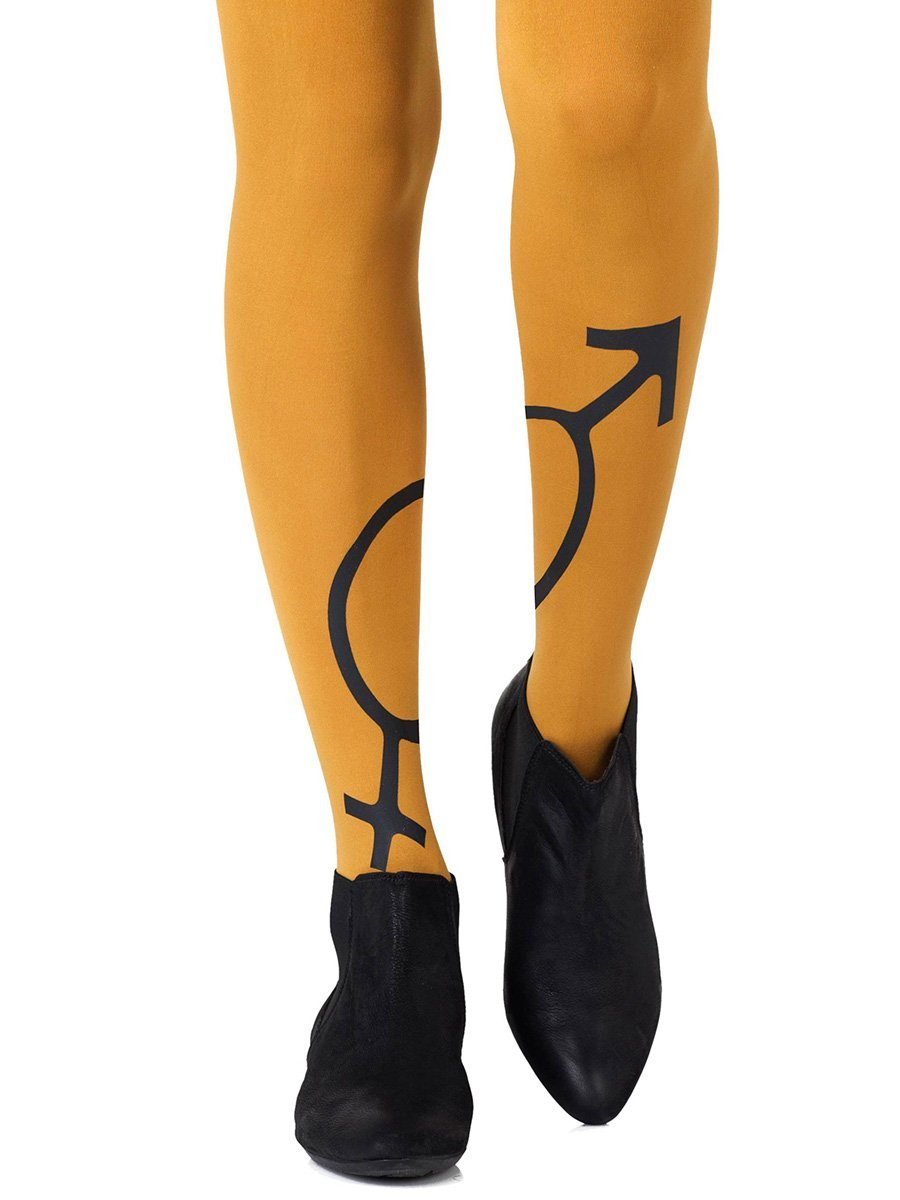 Mars + Venus Mustard Tights