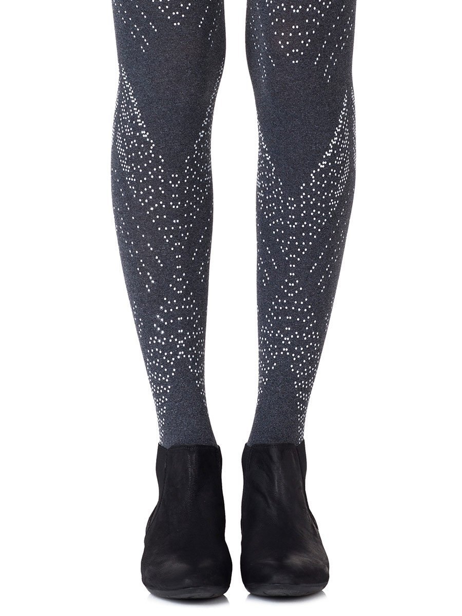 You're My Darling Angle Heather Grey Tights