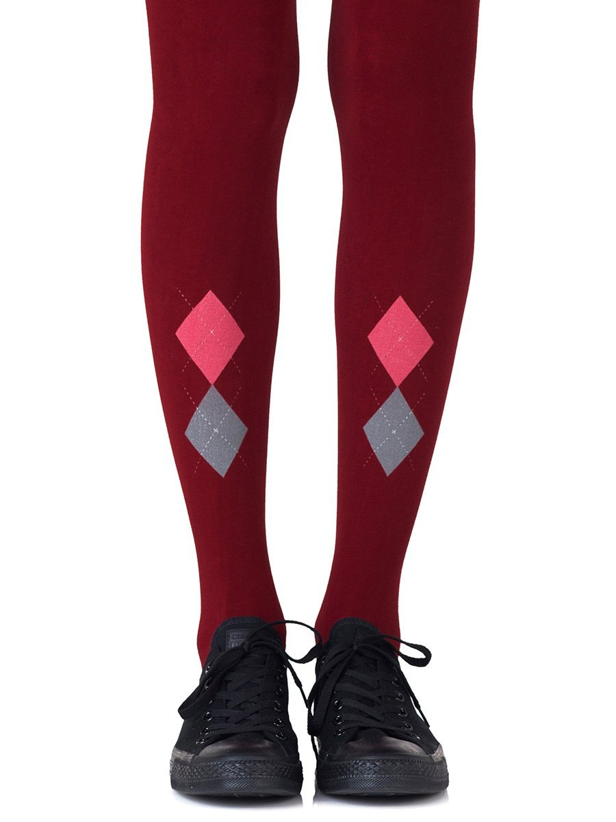 Ivy League Burgundy Tights
