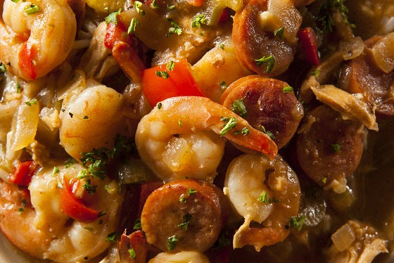 Shrimp Gumbo With Sriracha