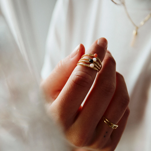 Flawed | Coral Affair Ring Goud