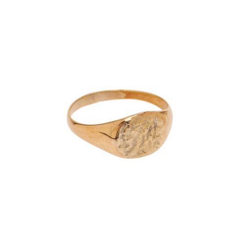 Flawed | Signet Hammered Ring Goud