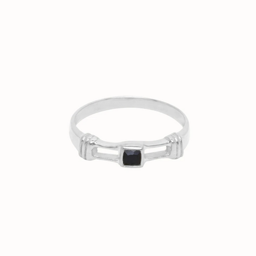 Flawed | Obsidian Ring Zilver