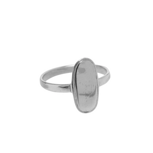 Xzota | Big Oval Ring Zilver