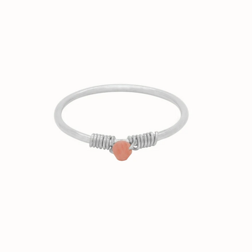 Flawed | Coral Affair Ring Zilver