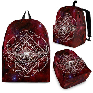 Red space nebula bag