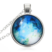 Hot Art Photo Vintage Galaxy Glass Cabochon Silver Chain Necklace Handmade Charm Fantasy Necklaces & Pendants For Women