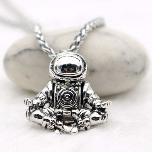 Astronaut Pendant Necklace .