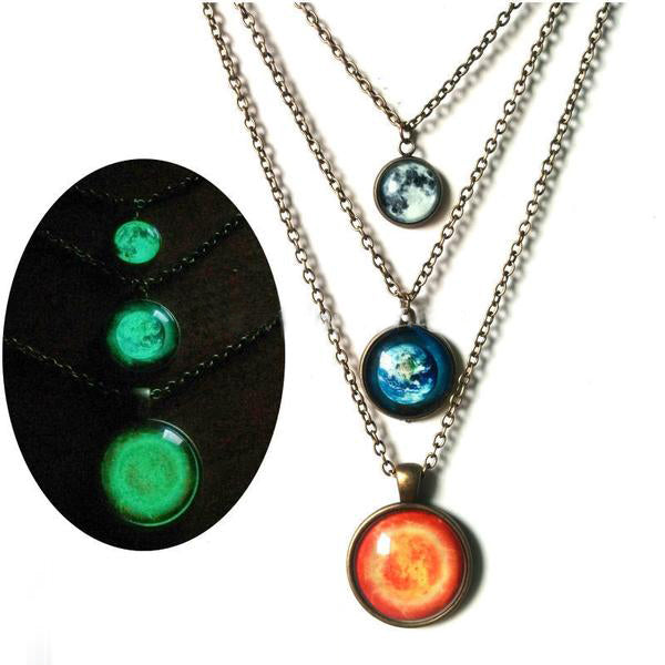 Glowing Planet necklace