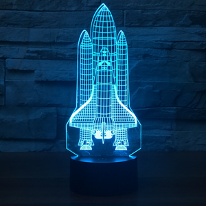 Space Shuttle  LED 3D Night Lights 7 Color