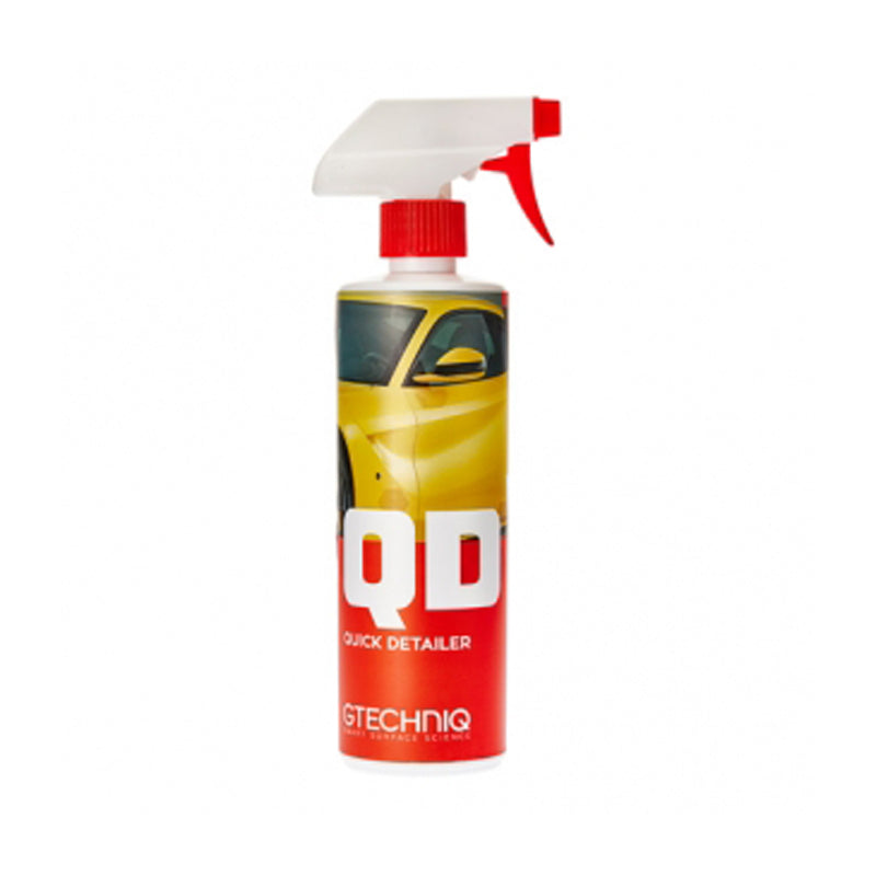 QD can be sprayed directly onto paintwork, trim or glass and buffed using a Gtechniq MF1.
