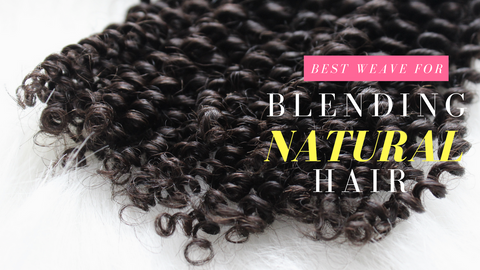 how to blend natural hair with weave