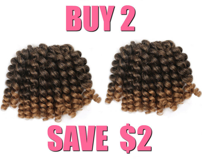 2X Bantu Bounce Crochet Hair
