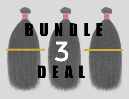 Kinky Straight Weave 3 Bundle Deal- Layered