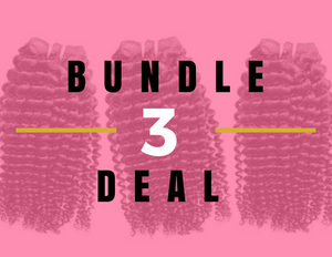 Kinky Curly Weave 3 Bundle Deal- Same Length