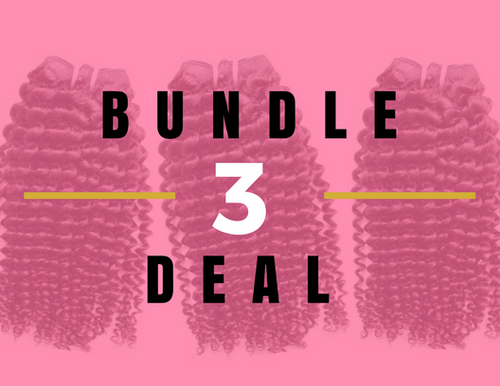 Kinky Curly Weave 3 Bundle Deal- Layered