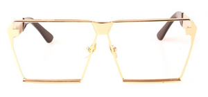 Oversized Square Flat Top Sunglasses