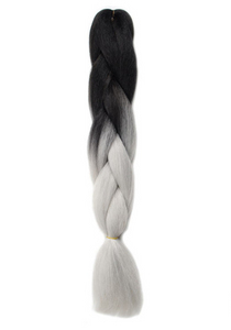 Gray Ombre Synthetic Kanekalon Braiding Hair