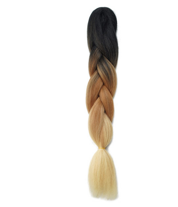 Honey Blonde Ombre Synthetic Kanekalon Braiding Hair