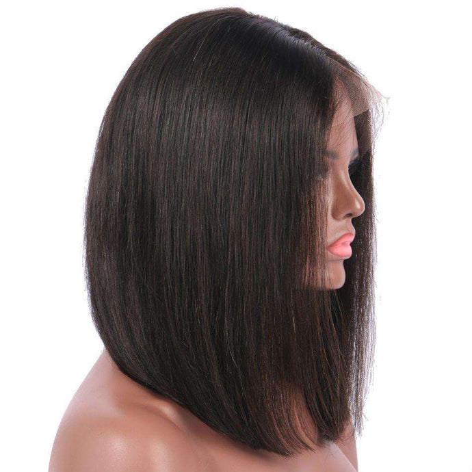 Light Yaki Bob Lace Front Wig
