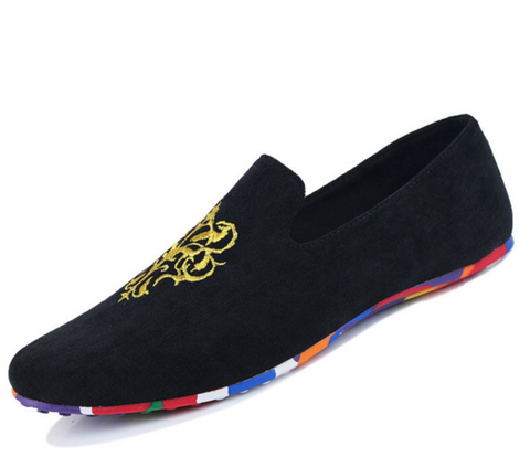 Velvet Loafers Men Flats Shoes