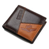 Men's Genuine Leather Wallets with Coin Pocket Zipper