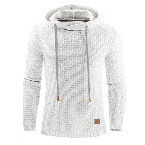 Long Sleeve Solid Color Hooded Sweatshirt for Mens