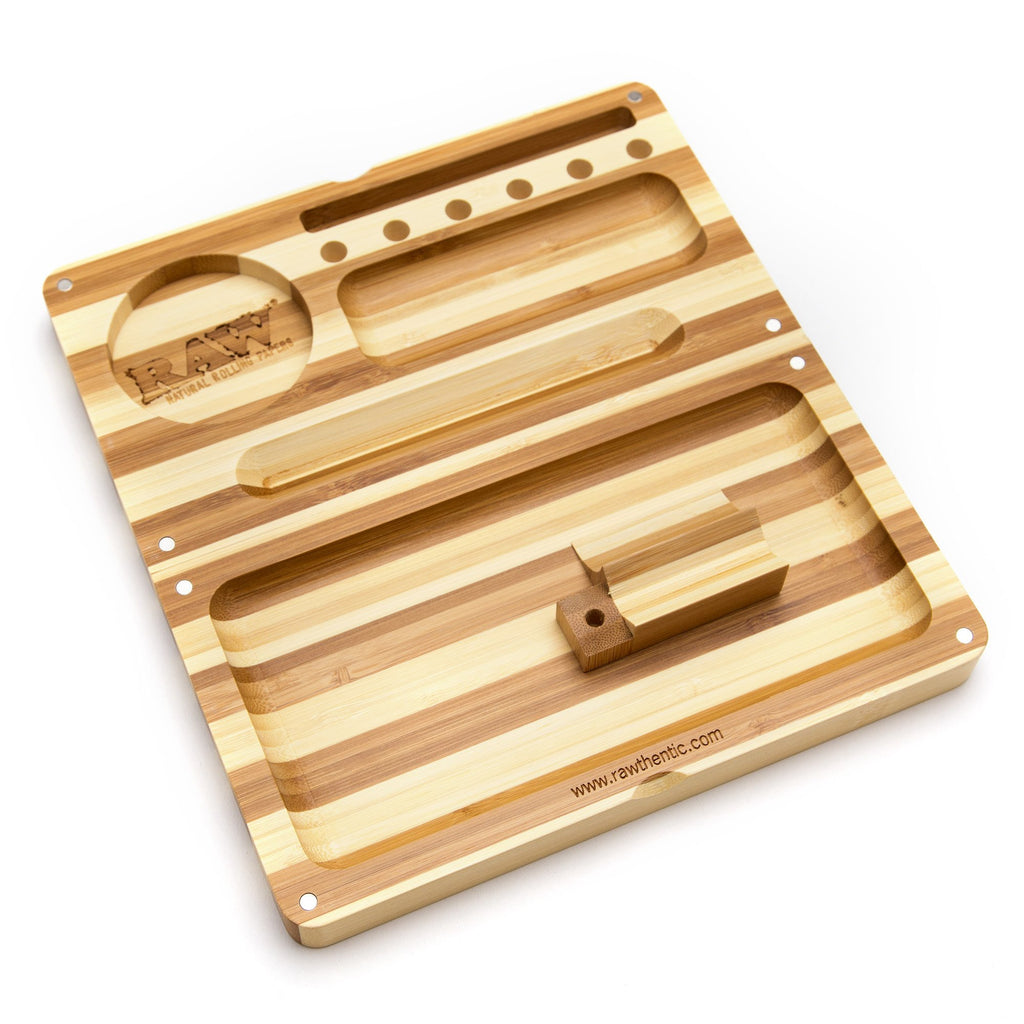 privateer-trading-company-ltd - RAW Back Flip Bamboo Rolling Tray - Privateer Trading Company Ltd -