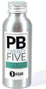 Clear Head Massage Oil - PB TwentyFive