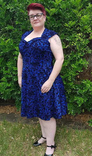Feverfish Kate Dress in Royal Blue by Paula Olds