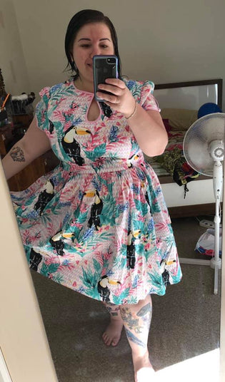Hell Bunny Toucan Mid Dress by Morgaan Wilson