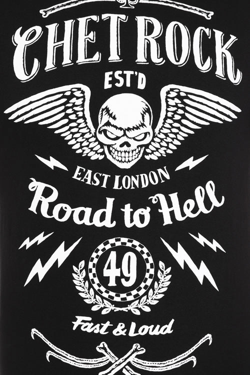 Chet Rock/ Hell Bunny Road To Hell Short Sleeve T-Shirt
