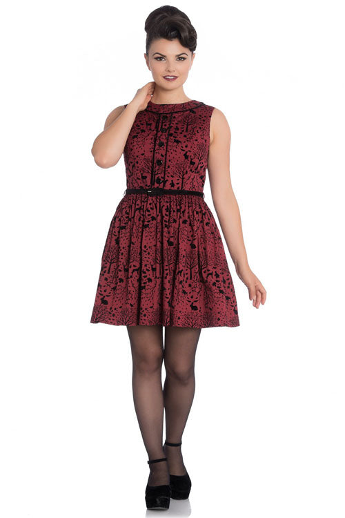 Hell Bunny Sherwood Mini Dress in Red