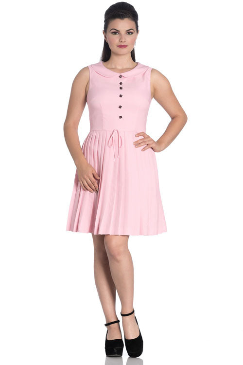 Hell Bunny Josephine Mini Dress in Pink