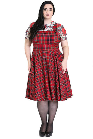 Hell Bunny Irvine Pinafore Dress